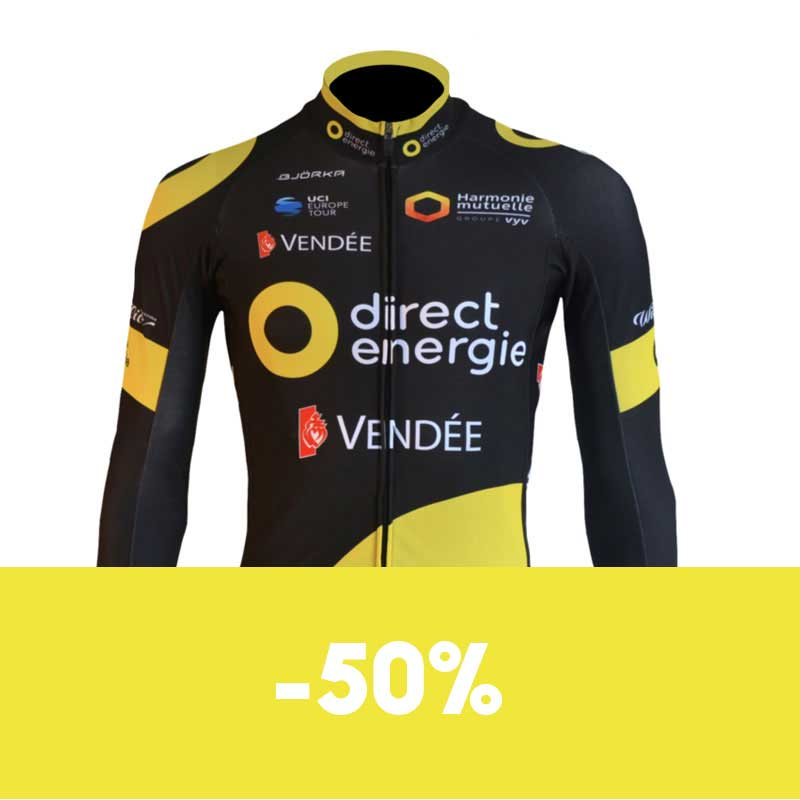 Maillot manches longues Vélo Direct Energie soldes
