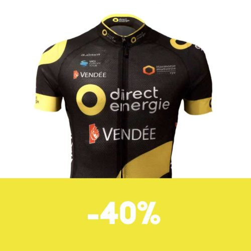 Maillot Vélo Direct Energie manches courtes soldes