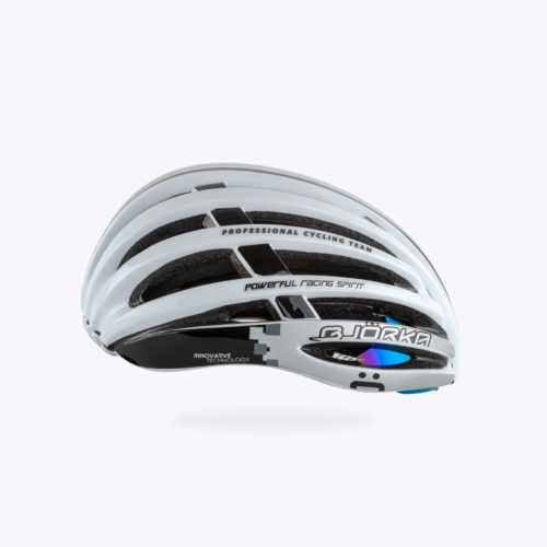 Casque Vélo Bjorka Rocket Blanc lateral