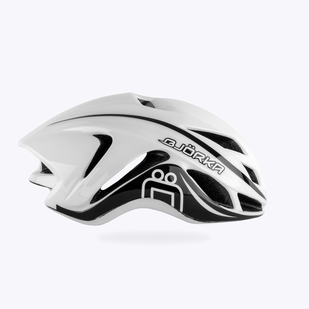 Casque Vélo Bjorka Speed Blanc lateral