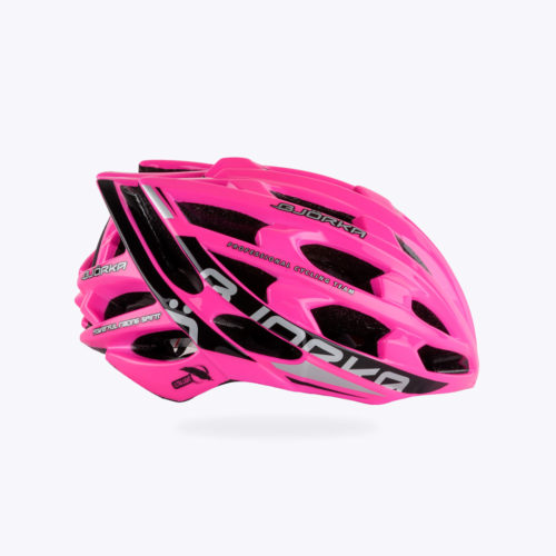 Casque Vélo Bjorka Sprinter Rose lateral