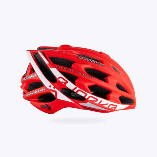 Casque Vélo Bjorka Sprinter Rouge lateral