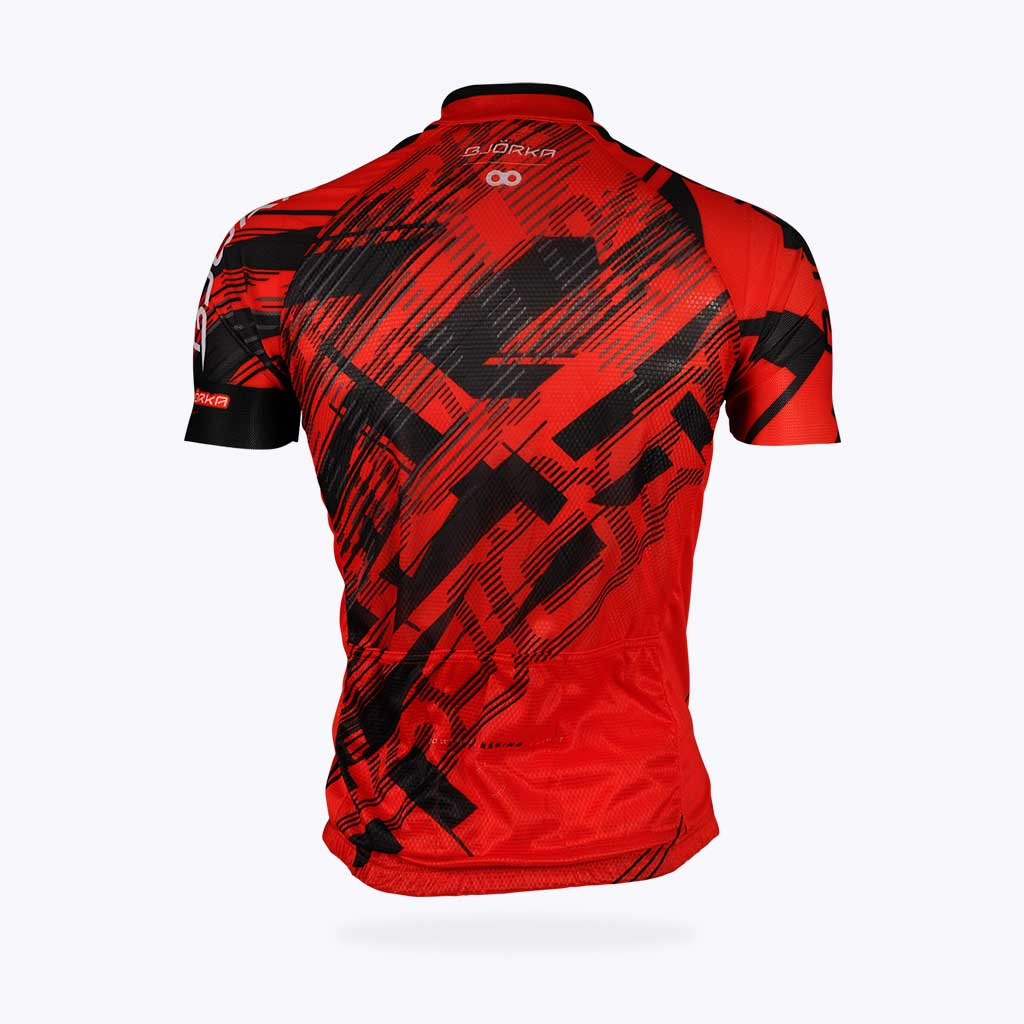 Maillot vélo Bjorka Fusion rouge dos