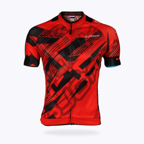 Maillot vélo Bjorka Fusion rouge face