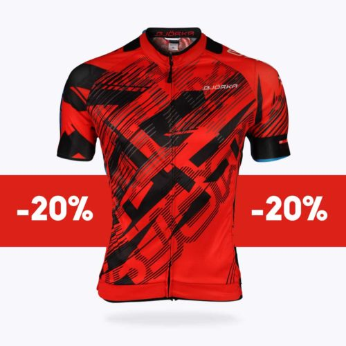 Maillot vélo Bjorka Fusion rouge soldes
