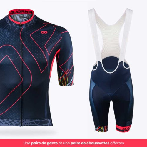Combo Maillot Cuissard vélo Cobra Rose