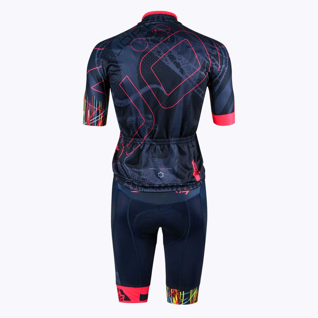 Combo Cuissard Maillot velo Cobra rose dos