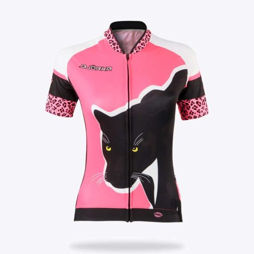 Maillot velo Bjorka femme panthere face