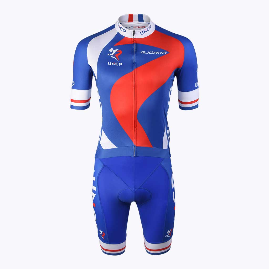 Cuissard Maillot vélo Bjorka UNCP face
