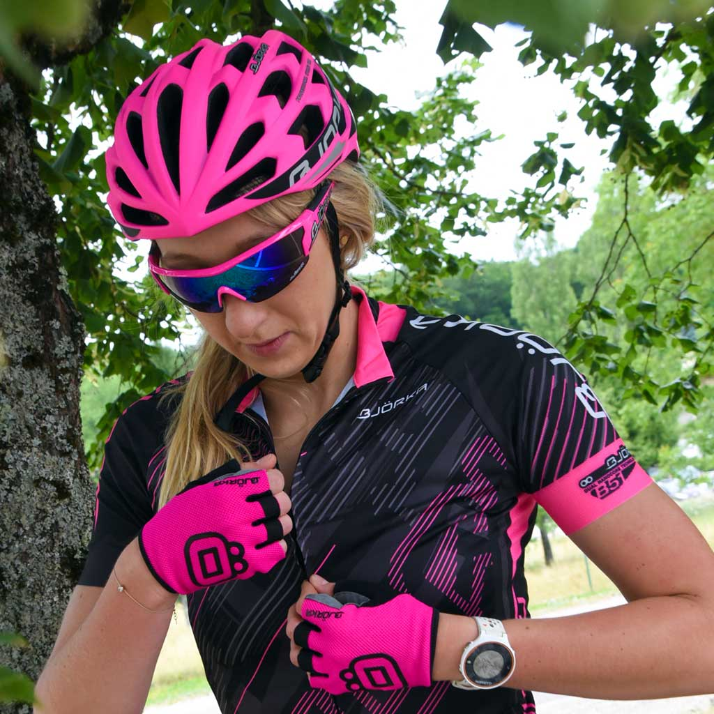 Maillot Fusion casque Sprinter Lunettes Flash Bjorka velo femme