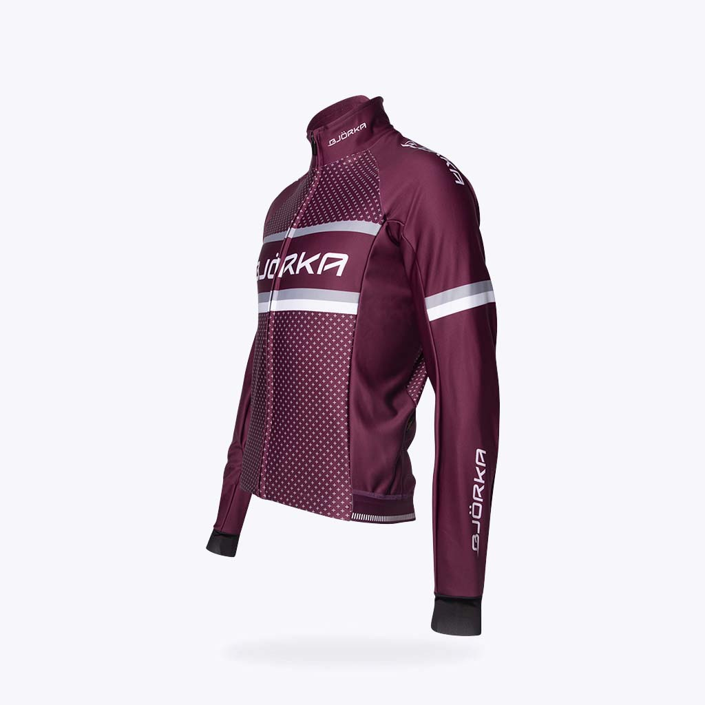 Veste velo Bjorka Rain Winter bordeaux